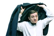 Free Moneyman - Jacket Stock Image - 8594631