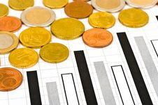 Free Coins And Diagram Royalty Free Stock Photo - 8595175