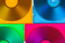Free Computer Disks In Multiciolored Boxes Stock Image - 8595251