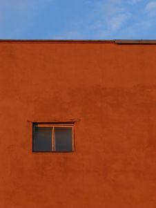 Single Closed Window Stock Photo
