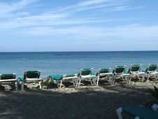 Free Chairs On The Beach Stock Images - 8596054