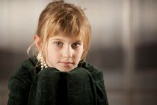 Free Cute Young Girl With Big Eyes Royalty Free Stock Photos - 8596588