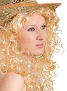 Free Blonde In The Straw Hat Stock Photography - 8596712