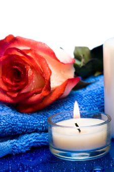 Free Candle With Flower Stock Photos - 8597513