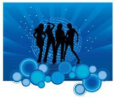 Free Dancing Girls Stock Image - 8598041
