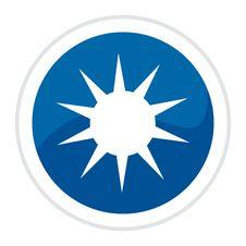 Free Sun Web Button Royalty Free Stock Image - 8598346