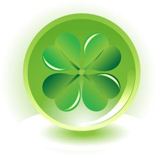 Free Four Leaf Clover , Shramrock On Sphere Background Royalty Free Stock Image - 8598536