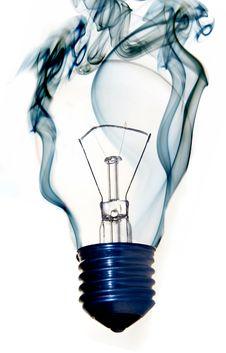 Free Burning Light Bulb Stock Image - 8598981