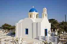 Free Pretty Greek Church, Santorini, Greece Royalty Free Stock Images - 8599179