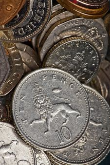 British Coin Collection Stock Images