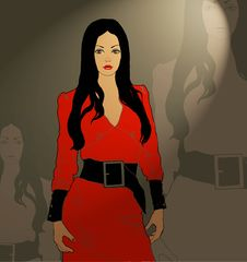 Free Lady In Red Royalty Free Stock Image - 8599336