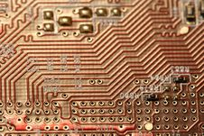 Free Red Circuit Board Royalty Free Stock Photos - 8599388