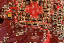 Free Nice Red Circuit Board Royalty Free Stock Photos - 8599658