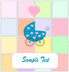 Free Pram For Newborn Boy. Royalty Free Stock Photo - 8599675