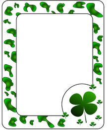Free Frame With Clover. Stock Image - 8599781