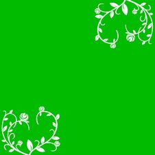 Free Floral Green White Background Stock Images - 8599844