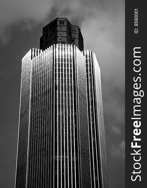 Abstract London Skyscraper in Black and White