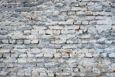 Free Fragment Of Old Brick Wall With White Gray And Blue Colors Royalty Free Stock Images - 85991169