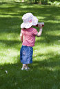 Free Baby Girl In Sun Hat Royalty Free Stock Image - 861746