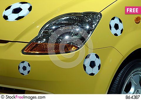 Free Balls Of Soccer In The Car Royalty Free Stock Photography - 864387