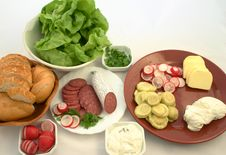 Free Everything Ready To Prepare Sandwiches Stock Images - 860804
