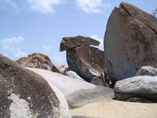 Free Boulders At Virgin Gorda Royalty Free Stock Photography - 860807