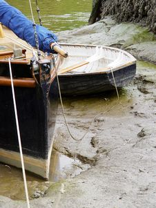 Free Boats In Mud Stock Photo - 861140