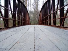 Free Iron Bridge Winter Royalty Free Stock Images - 861219