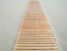 Footbridge In The Sand