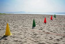 Cones On The Beach Royalty Free Stock Photo