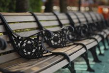 Free A Row Of Bench Royalty Free Stock Photos - 862228