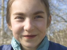 Smiling Girl III Royalty Free Stock Photos
