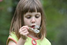 Free Girl Blowing Bubbles 3 Royalty Free Stock Image - 863276