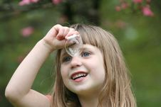 Free Girl Blowing Bubbles 5 Stock Images - 863284