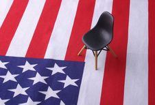 Free Designer Chair  - 4th July Royalty Free Stock Image - 863356