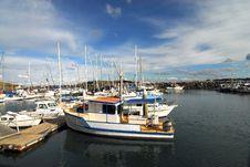 Sailing Boats In The Marina Stock Photo
