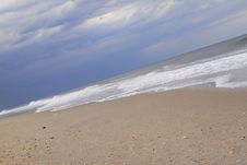 Stormy Beach Royalty Free Stock Images