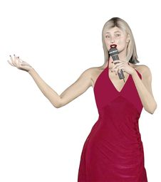 Woman Singing Royalty Free Stock Photo