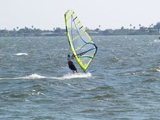 Free Wind Surfer Moving Fast Royalty Free Stock Images - 866589