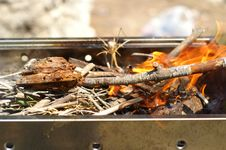 Free Fire In Grill Stock Images - 866864