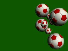 Free White Red Soccer Balls Royalty Free Stock Images - 868269