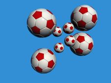 Free White Red Soccer Balls Stock Photos - 868333