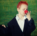 Free Boy With Red Nose Stock Photos - 8601633