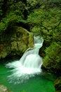 Free Twin Falls Waterfall In Lynn Canyon Stock Image - 8609291