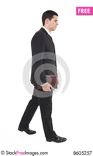 Businessman with agenda Stock Photo