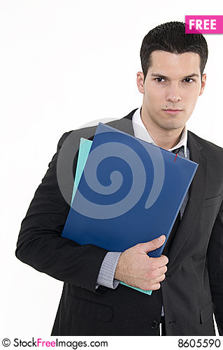 Free Businessman With Documents Stock Photo - 8605590