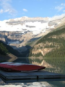 Canoes And Lake Stock Photo