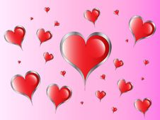 Free Red Hearts Royalty Free Stock Photography - 8600657