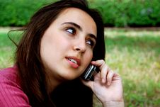 Free Girl On Cellphone Royalty Free Stock Photography - 8601257