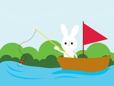 Free Fishing Bunny Stock Image - 8601631